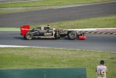 K. Raikkonen in de praktijkdag van Monza 2012. Stock Foto's