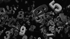 4K random numbers die zich in een netwerk bewegen stock illustratie