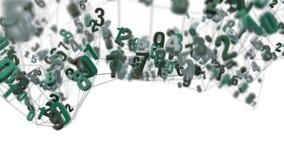 4K random numbers die zich in een netwerk bewegen royalty-vrije illustratie