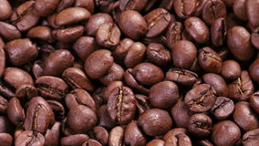 4k raw close up footage of rotating roasted coffee stock video footage