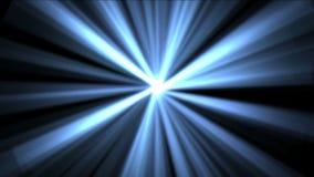 4k Rays il fondo leggero, stella di chiarore, energia del laser di radiazione, linee del passaggio del tunnel stock footage