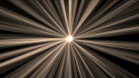 4k Rays il fondo leggero, stella di chiarore, energia del laser di radiazione, linee del passaggio del tunnel archivi video