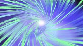 4k Rays il fondo leggero, stella di chiarore, energia del laser di radiazione, linee del passaggio del tunnel video d archivio