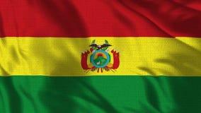 4K realístico - bandeira de 30 fps da Bolívia que acena no vento ilustração stock