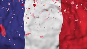 4k Realistic 3D detailed slow motion France flag , flying Iran Flag Animated Background, royalty free illustration