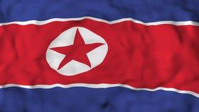 4k Realistic 3D detailed slow motion Korea North flag , flying Iran Flag Animated Background, royalty free illustration