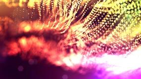 4k rendent des particules de lueur en tant que fond dynamique sans couture abstrait avec la profondeur du champ et du bokeh La sc clips vidéos