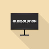 4K resolution. Monitor on the pale yellow background Royalty Free Stock Image