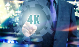 4K Resolution Pointing Concept Royalty Free Stock Image