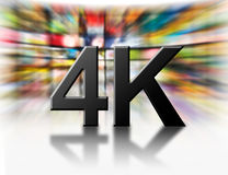 4k resolution technology concept Stock Images