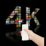 4k resolution tv concept. Royalty Free Stock Image