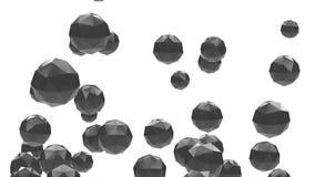 4k resumen el fondo cristalino de la gema del diamante de la partícula del dodecahedron del poliedro 3d libre illustration