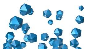 4k resumen el fondo del cristal de la tecnología del mineral de la gema del diamante de la partícula del poliedro libre illustration