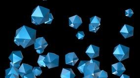 4k resumen el fondo del cristal de la tecnología del mineral de la gema del diamante de la partícula del poliedro stock de ilustración