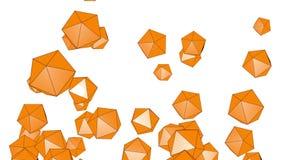 4k resumen el fondo del cristal de la tecnología del mineral de la gema del diamante de la partícula del poliedro ilustración del vector