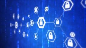 4K resumen forma del hexágono del fondo con concepto futurista de la tecnología cibernética de la seguridad de la red de la metáf libre illustration