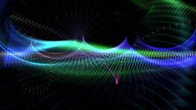 4k resumen las líneas fondo del arte de la fantasía, ficción de la curva de la ciencia espacial del universo ilustración del vector