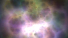 4k resumen pulso magnético de la energía de la galaxia de la nebulosa en espacio de las partículas de los fuegos artificiales ilustración del vector