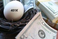 401k Retirement Nest Egg With Money High Quality