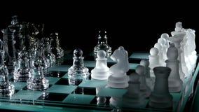 4K Riddares flyttning på schackbrädet stock video