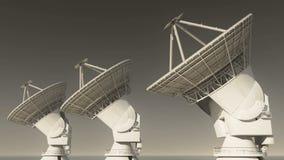 4k riflettori parabolici, grandi osservatori-TimeLapse radiofonici, radar, spazio cosmico video d archivio