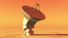 4k riflettori parabolici, intervallo radiofonico molto grande di Osservatorio-Time, radar militare video d archivio