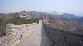 4k rising shot of Jinshanling Great Wall stock footage