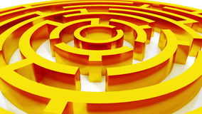 4k rotating golden metal maze,abstract business & tech background.