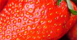 4k Rotation of delicious strawberry. stock video footage