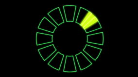 4k rotation tech GPS background,software panel & Radar scan. stock video footage