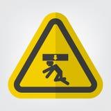 K?rper zerquetschen Kraft vom oben genannten Symbol-Zeichen-Isolat auf wei?em Hintergrund, Vektor-Illustration lizenzfreie abbildung