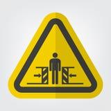 K?rper-Zerstampfungs-Kraft vom zwei Seiten-Symbol-Zeichen-Isolat auf wei?em Hintergrund, Vektor-Illustration lizenzfreie abbildung