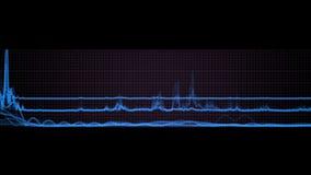 4k rynku papierów wartościowych trendu analizy statystyki dane, bicie serca pulsu ECG siatki linie royalty ilustracja