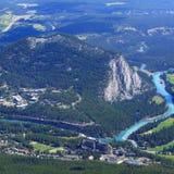 Łęk rzeki dolina Obrazy Stock