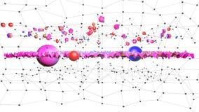 4k säubern niedrige Poly-Animation 3d in der Schleife Nahtloser Hintergrund 3d im modernen geometrischen Stil niedrig Poly mit he lizenzfreie abbildung