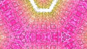 4k säubern niedrige Poly-Animation 3d in der Schleife Nahtloser Hintergrund 3d im modernen geometrischen Stil niedrig Poly mit he stock abbildung