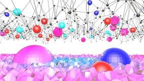 4k säubern niedrige Poly-Animation 3d in der Schleife Nahtloser Hintergrund 3d im modernen geometrischen Stil niedrig Poly mit he vektor abbildung