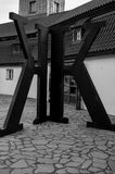 The K`s. The Letter K in front of the Kafka Museum in Prague Royalty Free Stock Photo