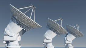 4k Satelite Dishes,Large Radio Observatories-TimeLapse,Radar,outer Space. 4k Satelite Dishes at dusk,Very Large Radio Observatories-Time Lapse,Military Radar vector illustration