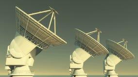 4k satellit- disk, stora radioobservatorier-TimeLapse, radar, yttre rymd lager videofilmer