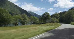 4K Scenic Drive, Sognefjord, Norway Stock Photo