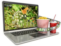 4k screen laptop computer with modern ultra hd resolution Stock Photography