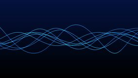 4K Seamless background animation of abstract wave form. flowing streaks. Motion graphic and animation background. Blue Line loop abstract motion wave stock video