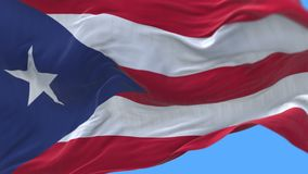 4k seamless Close up of Puerto Rico flag slow waving in wind.alpha channel. 4k seamless Close up of Puerto Rico flag slow waving with visible wrinkles.A fully stock video footage