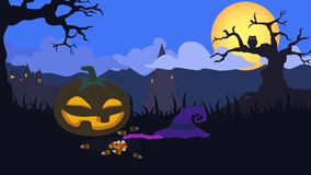 4k seamlessly loopable halloween animation stock footage