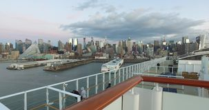4k, The ship in the port of New York, -USA-New York-july 2016. stock footage