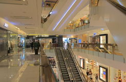 K11 shopping mall Hong Kong. People visit K11 shopping mall in Hong Kong. K11 is a contemporary shopping mall opened in 2009 Stock Images