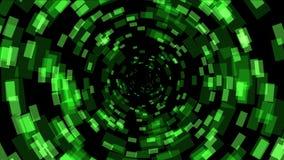 4k si inverdiscono il fondo quadrato di matrice, spazio di energia del foro del tunnel della fantascienza di tecnologia royalty illustrazione gratis