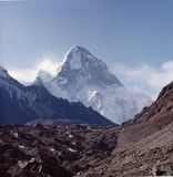 K2. The k2 skyline from atop the mountain Stock Images