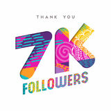 7k social media follower number thank you template Royalty Free Stock Images